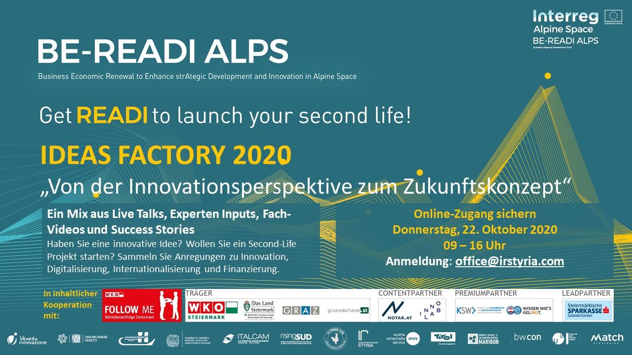 Termin-Aviso Ideas Factory Styria 2020